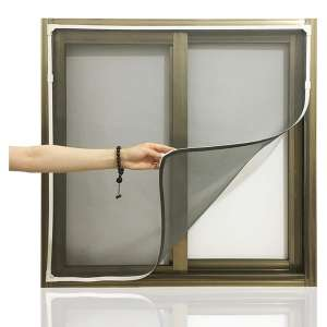 Dysome Adjustable DIY Magnetic Window Screen 55 x 50 Inches