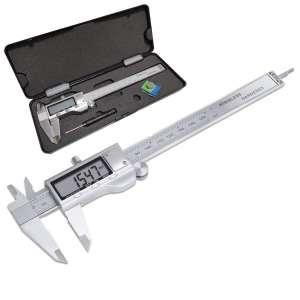 Electronic Digital Vernier Caliper, LOUISWARE Stainless Steel Caliper 150mm:0-6 inch Measuring Tools with Extra-Large LCD Screen, inch:Metric Conversion