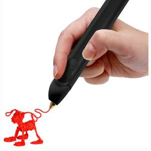 3Doodler Create+ 3D Printing Pen for Teens, Adults & Creators! - Black (2020 Model) - with Free Refill Filaments + Stencil Book + Getting Started Guide