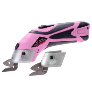 Pink Power Electric Scissors for Cutting Fabric