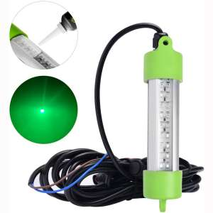 SF 12V 45W 108 LED Bait Submersible Fishing Light Underwater Crappie Lure Green Night Fishing Finder