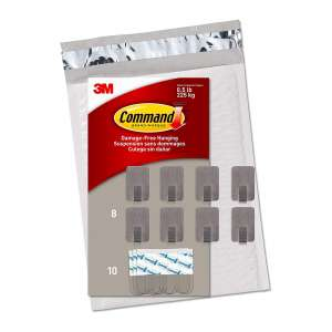 Command Small Stainless Steel Metal Hooks