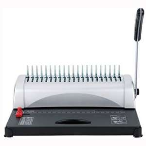 FLK Tech Binding Machine with Starter Combs Set for A4-21 Hole : 450 Sheets Paper Punch Binder