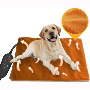 2020 Newest Pet Heating Pad Temperature Adjustment Dog Heating Pad Anti-bite Puppy Heating Pad with Timer Cat Heating Pad