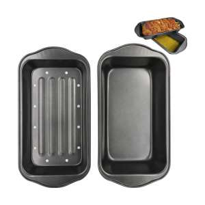 Evelots 2 Piece Non-Stick Meatloaf Pan