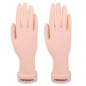 Practice Hand for Acrylic Nails, 2 Pack Fake Hand for Nails Practice, Flexible Bendable Mannequin Hand, Fake Hand Manicure Practice Tool