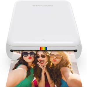 Zink Polaroid ZIP Wireless Mobile Photo Mini Printer (White) Compatible w: iOS & Android, NFC & Bluetooth Devices