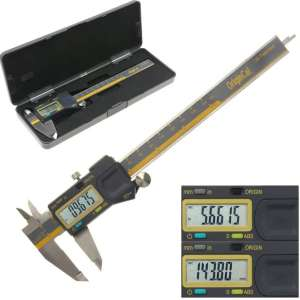 """iGaging ABSOLUTE ORIGIN 0-6"""" Digital Electronic Caliper - IP54 Protection:Extreme Accuracy"""