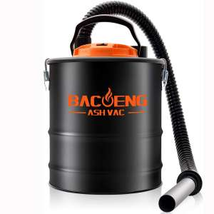 BACOENG Standard 4 Gallon 6.6Amp Ash Vacuum Cleaner with Blow Function for Pellet Stoves, Wood Stoves and BBQ Grills