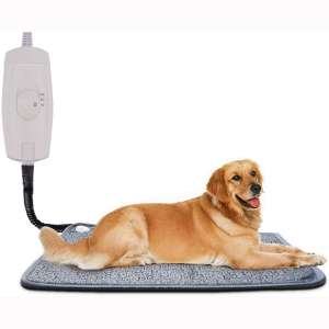 Homello Pet Heating Pad for Cats Dogs, Waterproof Electric Heating Mat Indoor, Adjustable Warming Mat