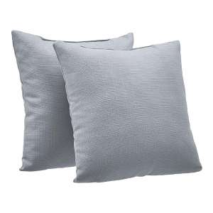 Amazon Basics 2-Pack Decorative Throw Pillows, Grey