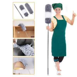 Coindivi Microfiber Duster with 100 Inches Extendable Pole