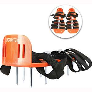 GRÜNTEK Lawn Aerator Shoes | Garden Grass Aerator Spiked Sandals | 4 Secure Adjustable Straps