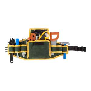 Hey! Play! Kids Tool Belt Set Handyman Kit with 2 Belts 20 Pcs