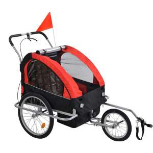 NUEVEN 2-in-1 Double 2 Seat Bicycle Bike Trailer