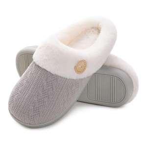 Vonluxe Women's Fuzzy House Memory Foam Slippers