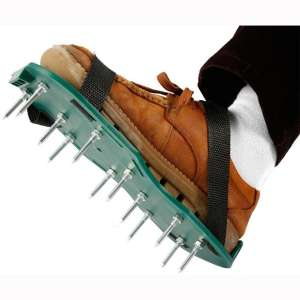 hermosoto Lawn Inflatable Shoes, Loose Soil Garden Aerator 2 Adjustable Shoulder Straps, Lawn Sandals