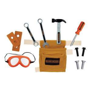 BLACK + DECKER JR Tool Belt Set with Accessories and 11 Tools