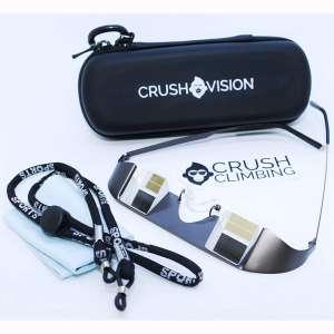 Crush Climbing Crush Vision Belay Glasses, Glass Prism, Metal Frame Plus Free Training eBook