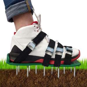 KOFULL Lawn Aerator Shoes,with Universal Size£¬Adjustable Straps for Effectively Aerating Lawn Soil