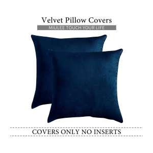 MIULEE Velvet Soft Throw Pillow, 18 x 18 Inch