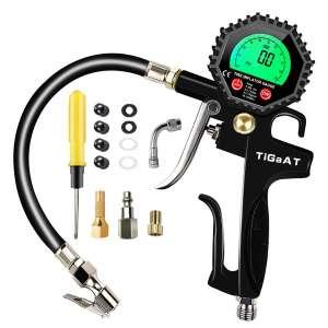TiGaAT Digital Air Pressure Gauge Inflator 200 PSI