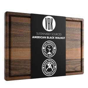 Virginia Boys Kitchens Large Walnut Wood Cutting Board