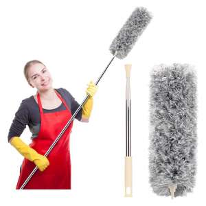 FUUNSOO Microfiber Duster with Extension Pole