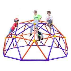 Zupapa Upgraded Decagonal Jungle Gym Dome Climber for Kids (Purple)