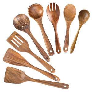 AIUHI Wooden Utensil Set for Cooking