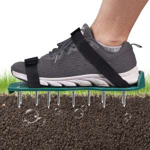Mdikawe Lawn Aerator Shoes, 26 Spikes Aerating Lawn Sandals for Lawn Aerating, One Size Fits All Lawn Aerator Spike Shoes