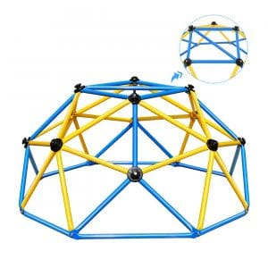 Zupapa Indoor and Outdoor 6FT Geometric Dome Climber Suitable for 1-6 Kids