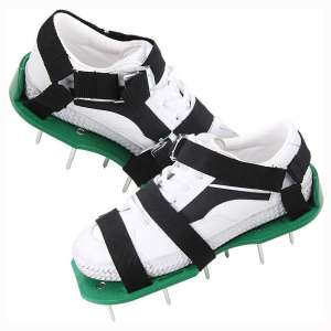 Okano Lawn Aerator Shoes, Heavy Duty Metal Buckles, Adjustable Straps and Sharper Spikes for Effectively Aerating Lawn