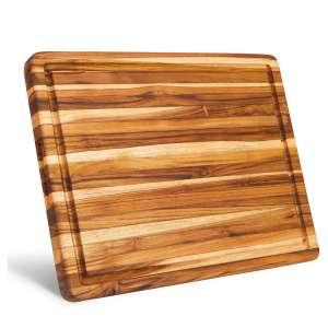SHUMARU Large Reversible Teak Wood Cutting Board