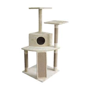 AmazonBasics Cat climber with Scratching Posts & Cave
