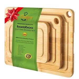 Cookgen Bamboo Cutting Board Set of 3