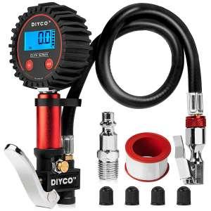 DIYCO Digital Tire Pressure Gauge with Lock-On Air Chuck