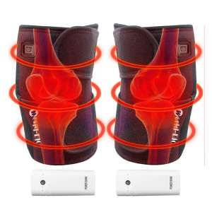 WORLD-BIO Heated Knee Brace Wrap Massager