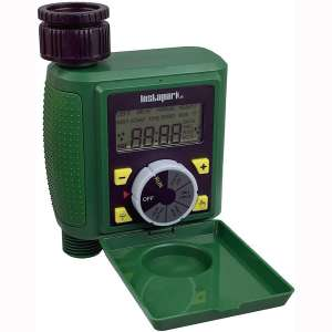 Instapark PWT-07 Outdoor Waterproof Digital Programmable Single Outlet Automatic On Off Water