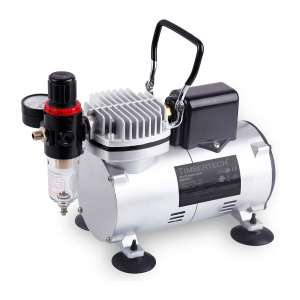 TIMBERTECH ABPST07Upgraded Basic Quiet Airbrush Compressor