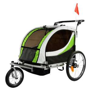 ClevrPlus Deluxe 2 Seat Bike Trailer and Stroller