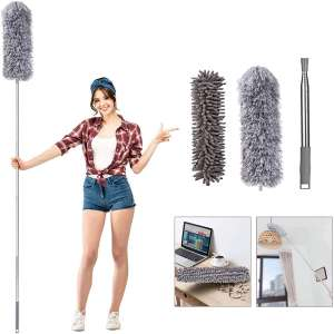 MIZIKUSON Telescoping Microfiber Feather Duster for Cleaning