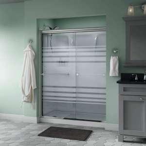 Delta Sliding Shower Door, Chrome Track