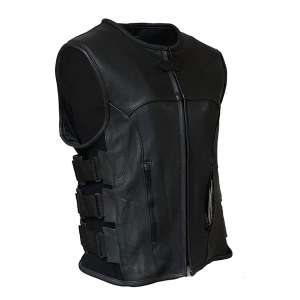 IKLEATHER Swat Style Leather Vest for Men