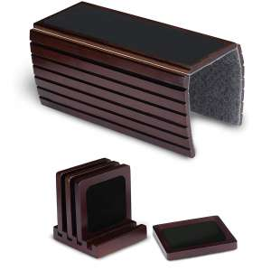 ShiroBiro Couch Arm Table and 4 Coasters with Holder