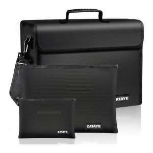 ZATAYE XL Fireproof Document Bags with Three Layer Fire Safe