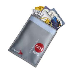 COLCASE Fireproof Document Storage Bag with Money Pouch Envelope