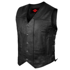 JAYEFO ALPHA MEN'S Leather Vest
