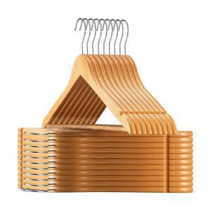 ZOBER Wooden Hangers