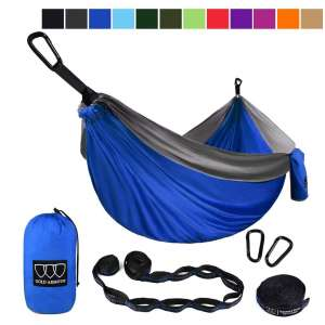 Gold Armour Double Parachute Camping Hammock